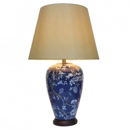 Chinese Table Lamp Royal Blue (Pair)