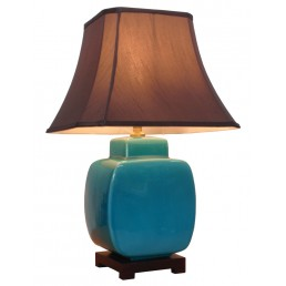 Chinese Table Lamp Turquoise (Pair)