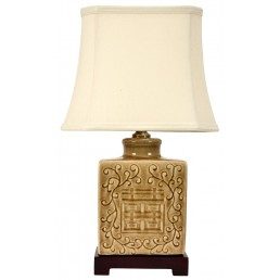 Chinese Table Lamp  Shuang Xi (Pair)