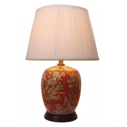 Chinese Table Lamp Daffodils (Pair)