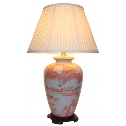 Chinese Table Lamp Red Willow (Pair)
