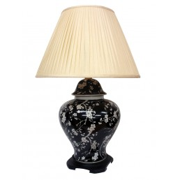 Chinese Table Lamp Black (Pair)