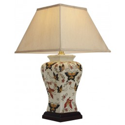 Chinese Table Lamp Textured (Pair)