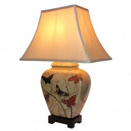 Chinese Table Lamp Butterfly (Pair)