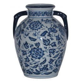 Chinese Vase Floral Scrolls