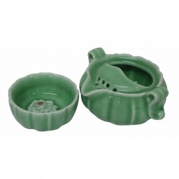 Chinese Pumpkin Teaset for One