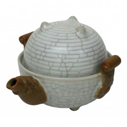 Chinese Dragon Egg Teaset for One