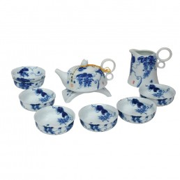 Chinese Blue and White Teaset