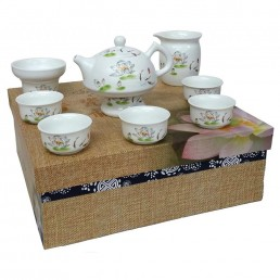 Chinese Lotus Flower Teaset