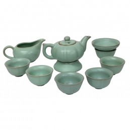 Chinese Green Pumpkin Teaset