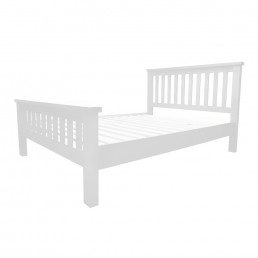 White Chunky Pine Bed Single