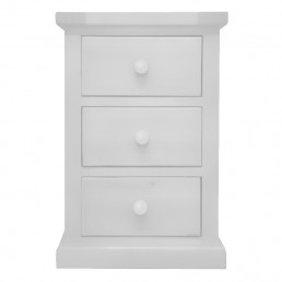 White Chunky Pine Bedside Cabinet