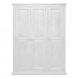 White Chunky Pine Wardrobe