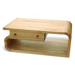 Clover Curved Oak TV - Coffee Table