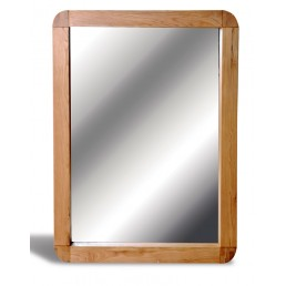 Clover Curved Oak Wall Mirror
