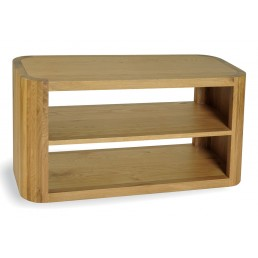 Clover Curved Oak Straight TV Unit