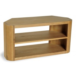 Clover Curved Oak TV Unit Corner