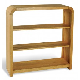 Clover Curved Oak Petite Bookcase