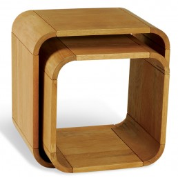 Clover Curved Oak Cube