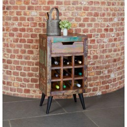 Coastal Chic Wine Rack Table