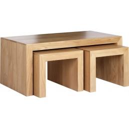 Cuba Cube Oak Coffee Tables