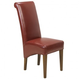 Cuba Cube Leather Chair Red