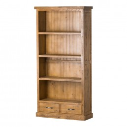 Rustic Two Drawer Bookcase