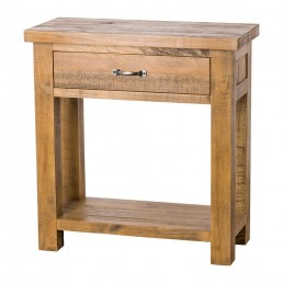 Rustic One Drawer Lamp Table