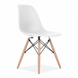 Eames Inspired Chair Off White