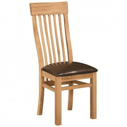 Devon Oak Dining Chair - Curved Back : Price Per Chair - sold in pairs