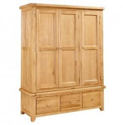 Devon Oak Triple Wardrobe