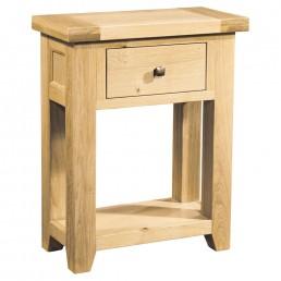 Devon Oak 1 Drawer Console Table