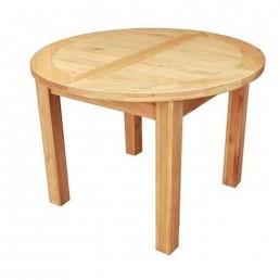 Devon Oak Round Extending Dining Table