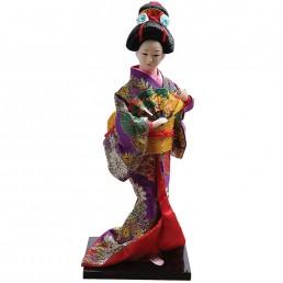 Japanese Purple Geisha Doll