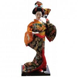 Japanese Double Fan Dancer Doll