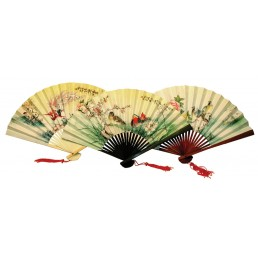Chinese Hand Fans - Pack of 6