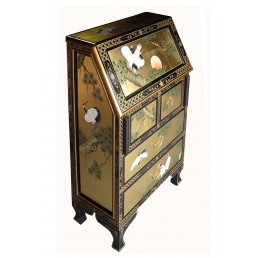 Chinese Gold Lacquer Bureau