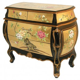 Chinese-Euro Gold Lacquer Trunk