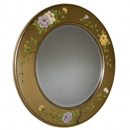 Chinese-Euro Gold Lacquer Mirror
