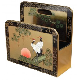 Chinese Magazine Rack with Cranes