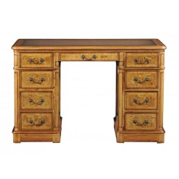 Hampton Walnut Pedestal Desk