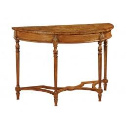 Hampton Walnut Demi Lune Table