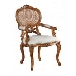 Hampton Walnut Rattan Chair