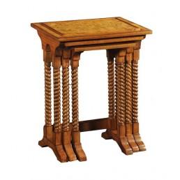 Hampton Walnut Nest of 3 Tables