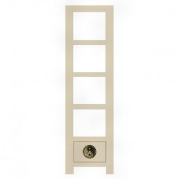 Huamei Tall Narrow Bookcase