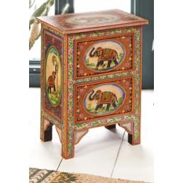 Haathi Painted Elephant Cabinet