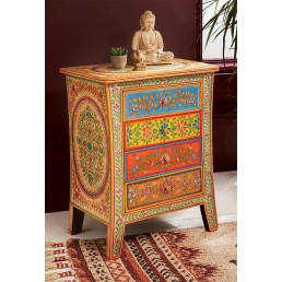 Hand Painted Bedside Cabinet