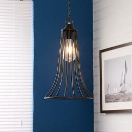 Iron Cone Cage Lamp