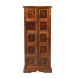 Jali 10 Drawer CD Cabinet