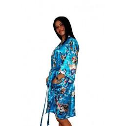 Japanese Ladies Kimono Turquoise